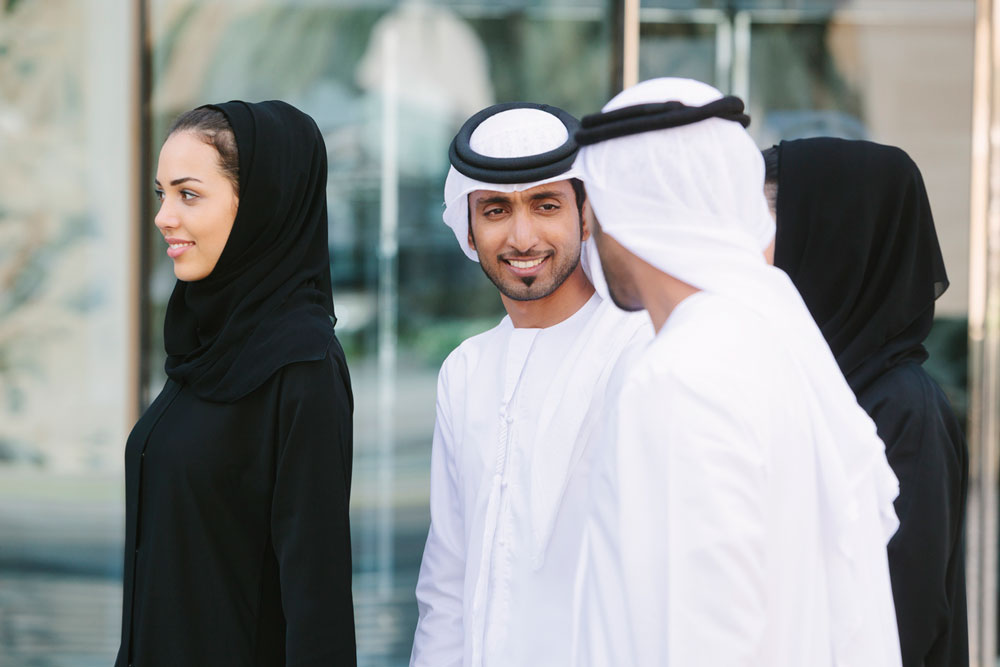 Arabs walking and talking