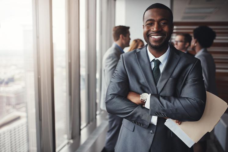 Smiling man in suite